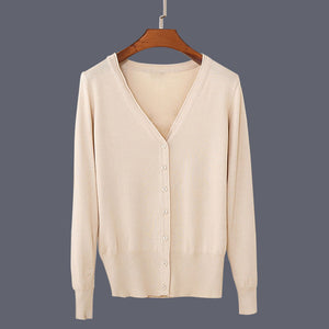 Casual V-neck Cardigan Colors 21 to 27