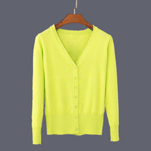 Casual V-neck Cardigan Colors 1 to 20