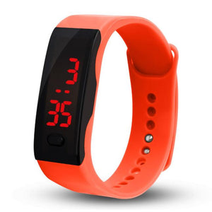 Mens Womens Rubber LED Watch Date Sports Bracelet Digital Wrist Watch