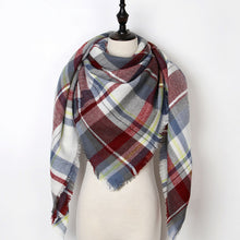 New Luxury Brand Triangle Scarf Shawl Tartan Cashmere Plaid Blanket Scarves Bufanda