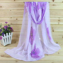 Chiffon Floral Prints Fashion Pashmina Shawl Scarves