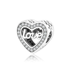 925 Sterling Silver Charms Fit Original Pandora Charms Bracelet Heart In Round Factory  Price