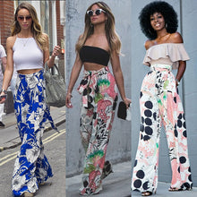 Summer Loose Fit High Waist Floral Palazzo Pants