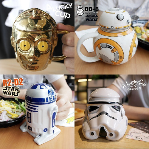 Star Wars R2D2 BB Darth Vader 3D  Ceramics Cup