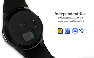 DM368 Android Smartwatch GPS Quad Core 8GB Pedometer Heart Rate Monitor