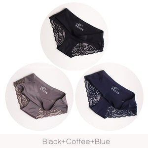 Sexy Lace Panties Seamless Women Underwear 3 pcs set