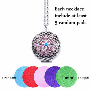 1pc 70cm Vintage Aromatherapy Perfume Essential Oils Diffuser Necklace Locket Necklace Pendant Dream Catcher Viking Necklace