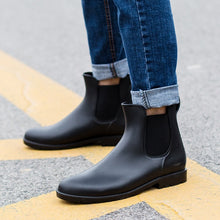 Men rubber rain boots fashion black chelsea boots