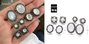 4 Pairs/Set Women Crystal Bohemian Boucle D'oreille Earrings