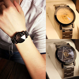 Luxury Watch Fashion Stainless Steel Watch for Man Quartz Analog Wrist Watch Orologio Uomo Hot Sales