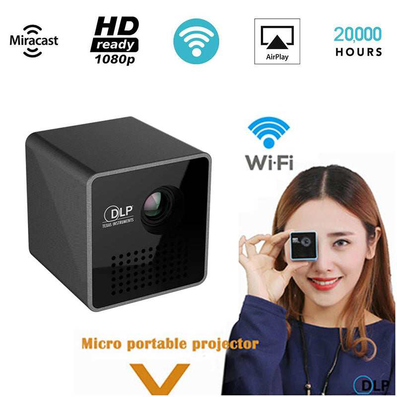 Mini Projector 1080P Wireless WIFI Mobile Projector Support Miracast DLNA Pocket home theater 5.1 DLP Beamer Battery