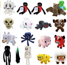 Minecraft Plush Stuffed Toys 16-26cm Minecraft Steve Enderman Wolf Enderdragon Spider Plush Toy