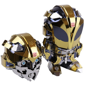 3D Metal Puzzle bumblebee with 2 Head replaceable Model