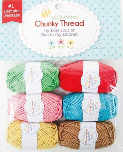 Multi 6-Pack 15g Sew Together by Riley-Blake Lori Holt Chunky Thread