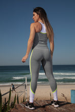 Grey/White High Waist Legging