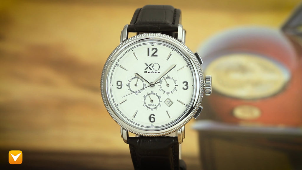 XO Retro  Certified 1960 Ferrari 250GT DNA - White Dial Black Strap