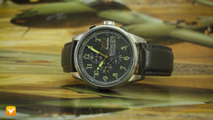 XO Retro  Certified 1943 P-38 Lightning Plane DNA Grey Dial Grey Strap