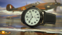 XO Retro  Certified 1940 Supermarine Spitfire DNA Black IP White Dial