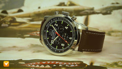 XO Retro  Certified 1991 A-10 Warthog Fighter DNA - Black Brown Strap