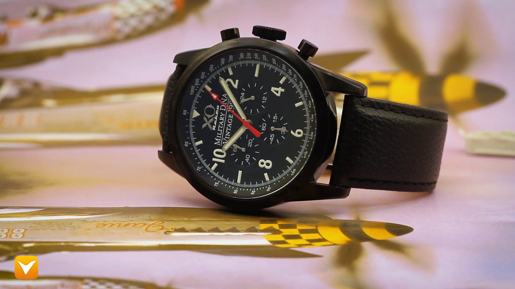 XO Retro  Certified 1991 A-10 Warthog Fighter DNA - Black Dial Black Strap