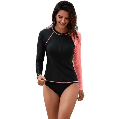 Womens Rash Guard Sun Protection Swim Shirt UPF 50+ Surfing Top