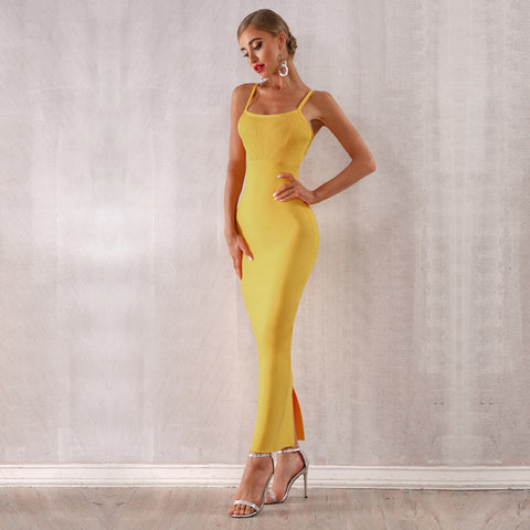 Women Sexy Sleeveless Club Dress Long