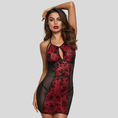 Women's Black Sheer Mesh Lace Underwear Sexy night dresses