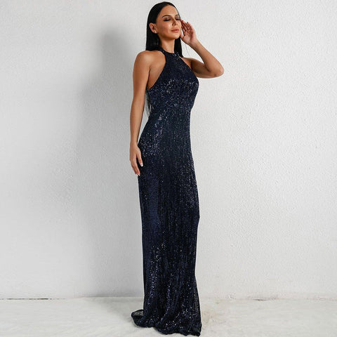 Women Off Shoulder Backless Dress Party Maxi dress