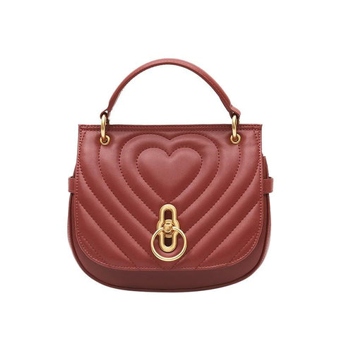 2019 New Saddle Bag Women's Leather HandBag