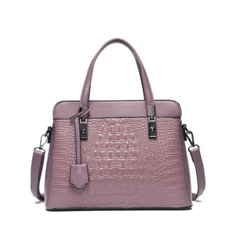 Women crocodile pattern shoulder bag ladies handbag