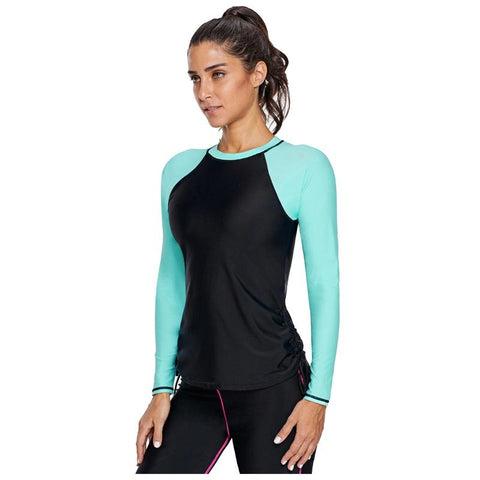 Women's Swimsuits Rash guard Swimwear Surfing Top Beach Wetsuits
