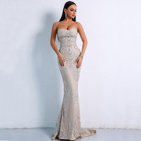 Women Sexy Elegant Floor-Length Party Dress Gown