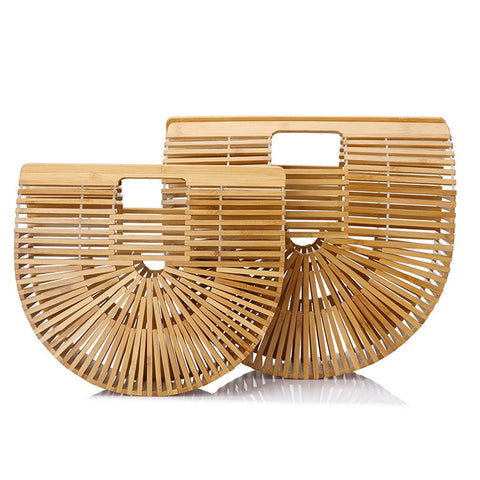 sd-hk Hot Bamboo Handbag Vacation Summer Beach Bag PU Bag sd-hk