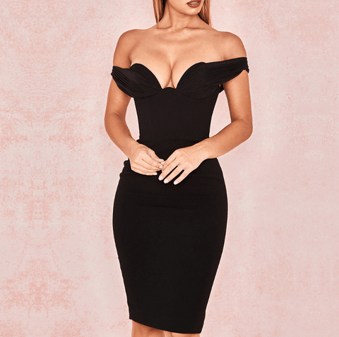Women Off Shoulder Club Dresses Sexy Dresses Black Vestidos