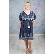Talisman Indigo Balboa Mini Dress
