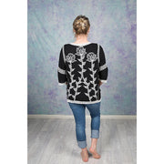 Embroidered Flower Blouse Tops Bohemian Inspire
