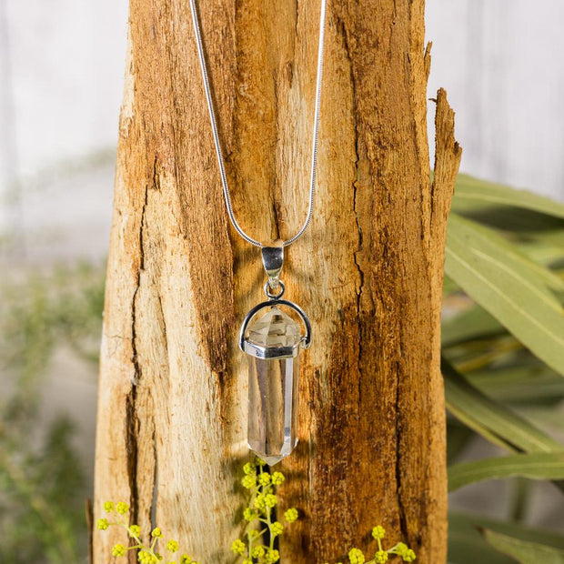 Clear Quartz Doubly Terminated Pendant