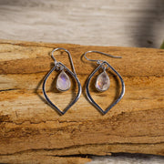 Sterling Silver and Tear Drop Moonstone Earrings Jewellery Bohemian Inspire