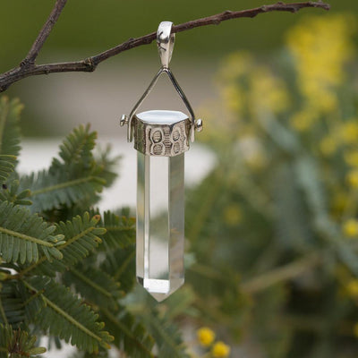 Clear Quartz Point Pendant Jewellery Bohemian Inspire