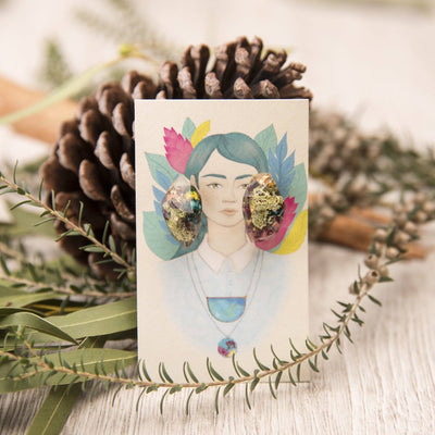 Mother Nature Botanical Nugget Studs Jewellery Bohemian Inspire
