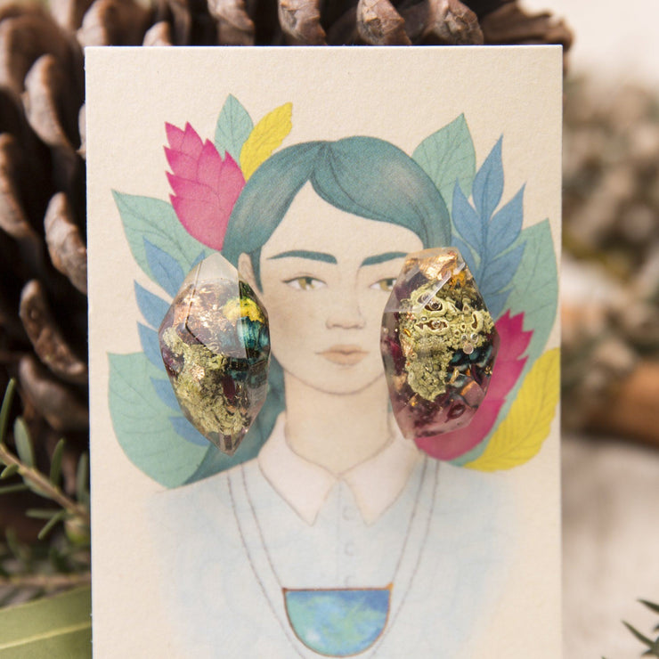 Mother Nature Botanical Nugget Studs
