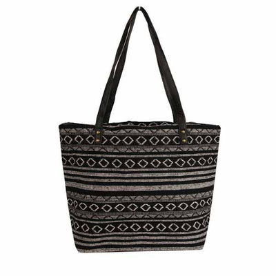 Black and White Tote Bag Bags Isabella Boho