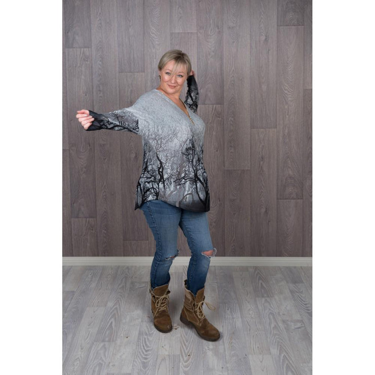 Grey Branch Jumper Knitted Jumpers and Jackets Caroline Morgan