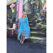 Take a Chance Maxi Dress Dress Hippy Heart Co M Blue Lagoon