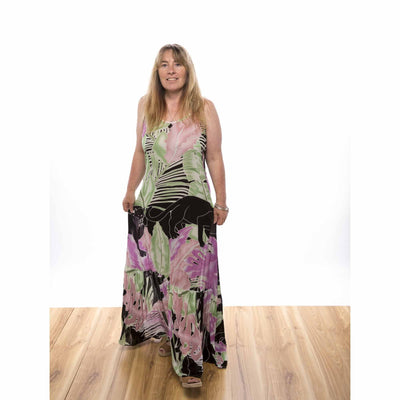 Panther Frilled Maxi Dress Spicy Sugar