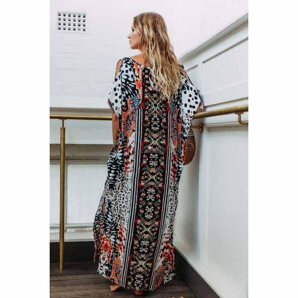 Label Of Love Jungle Kaftan Maxi Dress