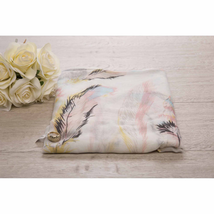 Flora Feather Bling Ring Scarf Set