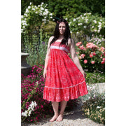 Swan River Rich Red Midi Dress Dress Bohemian Inspire