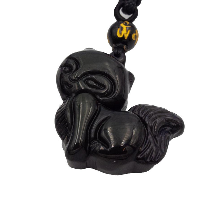 Black Obsidian Cat Necklace Jewellery Bohemian Inspire