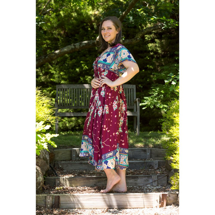 Anemone Flutter Sleeve Midi Koi Dress Dress Blossom By Three